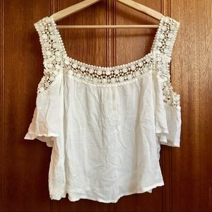 NWT American Rag Off Shoulder White Lace Top